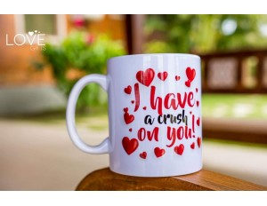 LG1134 - CANECA COLEÇÃO LOVE I HAVE A CRUSH ON YOU
