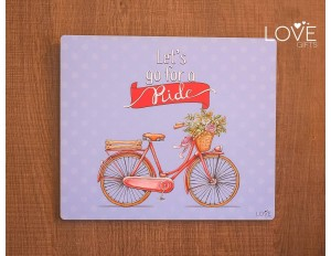 LG1089 - PLACA LETS GO FOR A RIDE