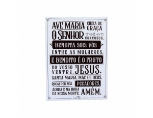 PLACA 40X30 ORACAO AVE MARIA